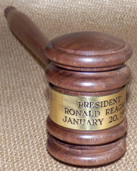 Ronald Reagan Commemorative Inaugural Walnut Wood Gavel