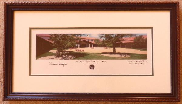 Signed LIMITED EDITION PHOTOGRAPHIC PRINT of The Ronald Reagan Presidential Library