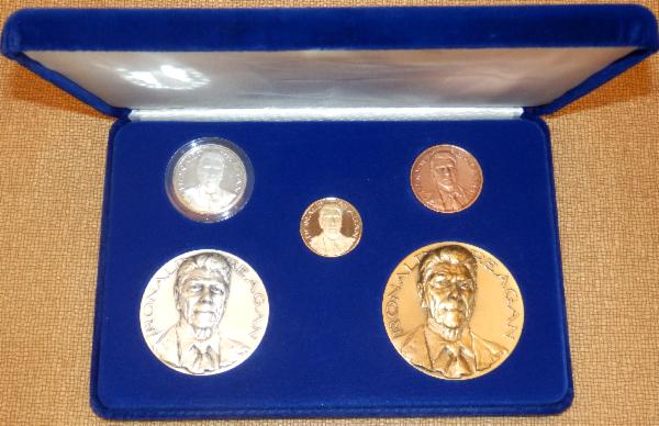 Medallic Art Limited Edition Official Inaugural Medals Gold Collector's Set