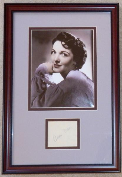 Nancy Davis (Reagan) Hollywood Years Display with Signature Cut Nancy Davis