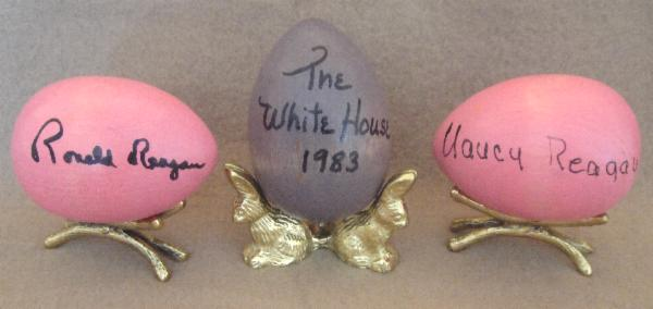 Rare Signed White House Easter Eggs
