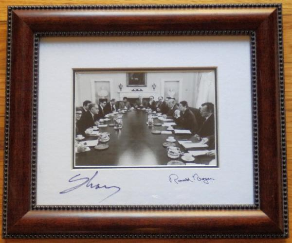 First Generation Copy Ronald Reagan Signed//Autographed Calling Card