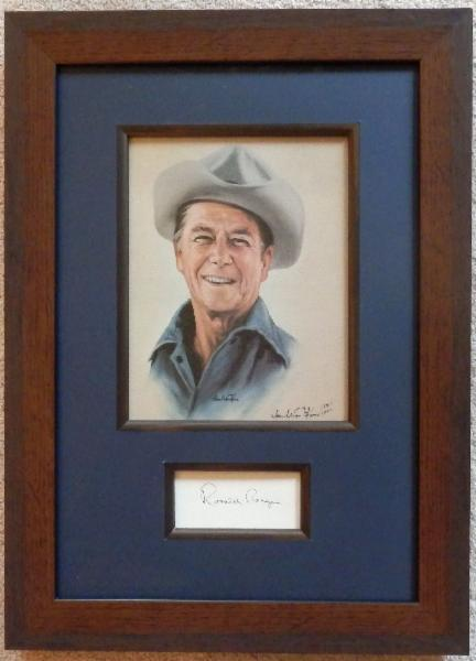 Ronald Reagan Cowboy Giclee #184 of 1000 with Signature Cut