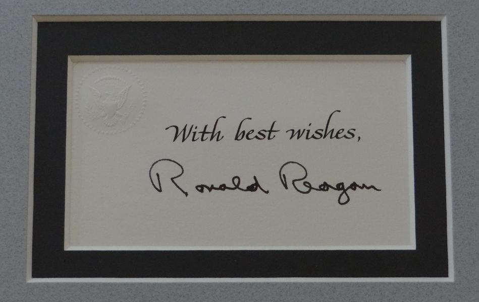 Reagancollector Com Ronald Reagan Signed Autographed