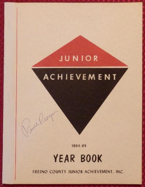 Ronald Reagan Signed 1964 ~ 1965 Junior Achievement Year Book