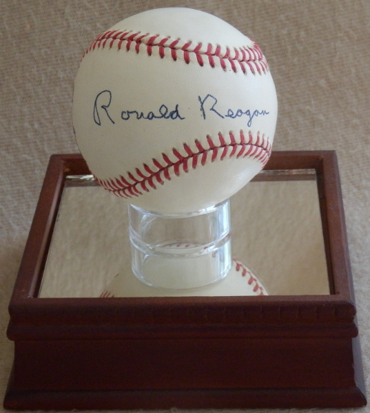 Ronald Reagan Signed Baseball