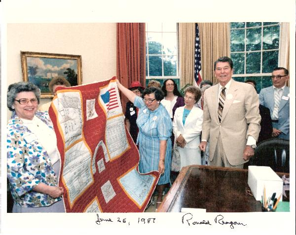 Ronald Reagan Signed and Dated 10 x 8 Color Oval Office Photo