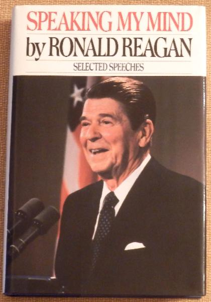 Ronald Reagan Signed First Edition <i>Speaking My Mind</i>&nbsp;Signed on Bookplate