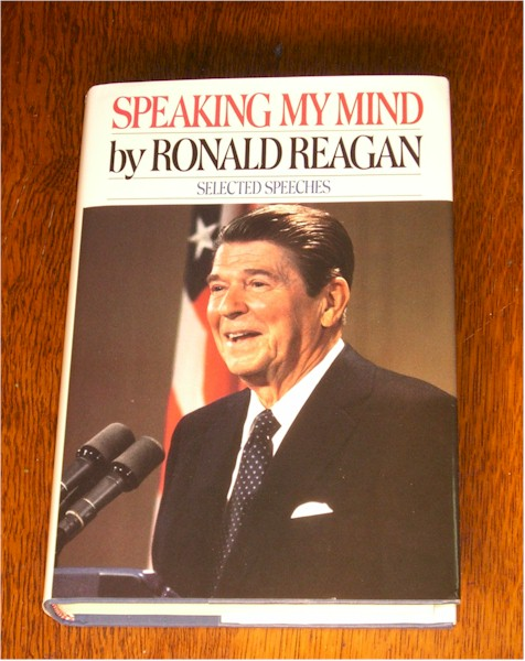 Ronald Reagan signed First Edition <i>Speaking My Mind</i> with in book signature