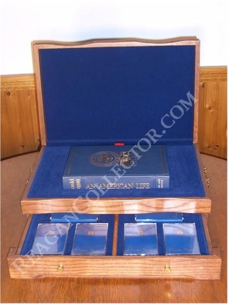 <font size=3>Ronald Reagan Signed Limited First Edition <i>Speaking My Mind</i>&nbsp;with Oak Presentation Box &nbsp; &nbsp;</font>
